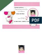 Kad Birthday Hana