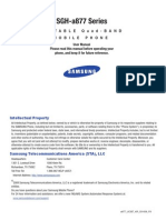 Samsung SGH-A877 Series Manual