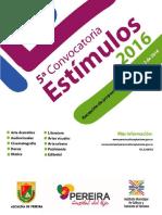 Manual Estímulos 2016