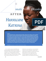 Stress disorder after Katrina