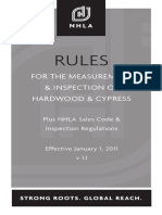 Rules for the measurement and inspection of hardwood & cypress