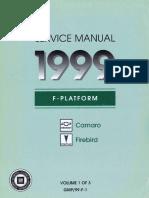 1999 Chevrolet Camaro & Pontiac Firebird Service Manual Volume 1
