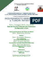 INQUINAMENTO AMBIENTALE E TUMORI INFANTILI_Forlì  7 maggio
