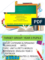 Lesson Plan for Year 3 pupils TESL