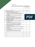 Lista de Verificación Para Proyectos