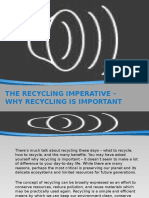The Recycling Imperative Why Recycling is Important