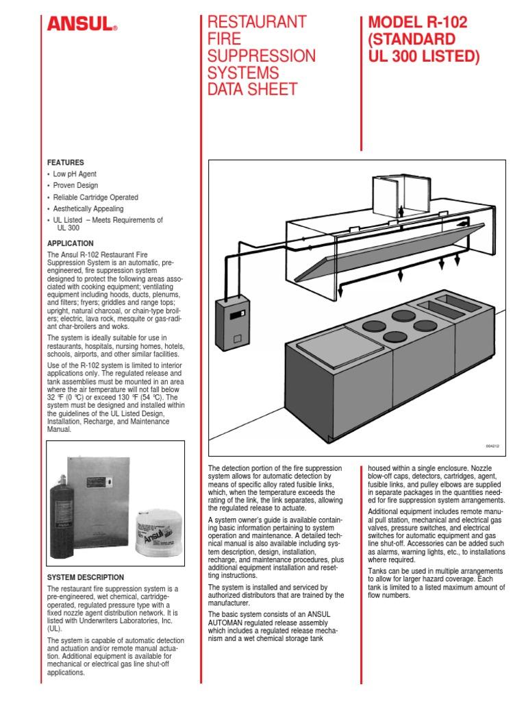 Modern Ansul R 102 Wiring Diagram Elaboration - Wiring Diagram Ideas ...