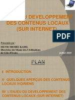 Enjeux Du Développement Des Contenus Locaux(Sur Internet)