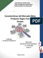 Características del Mercado Meta Producto Yogen Früz Ensayo Manuel E Rodríguez