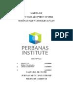 Makalah IFRS 1 Kelompok 1 FIX
