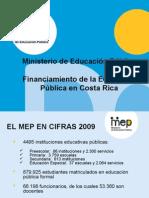2009PresentacionLeonardoGarnierFinanciamientodelaEducaciónPublicaenCostaRica