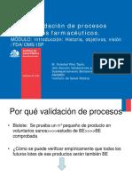 Curso Validación de Procesos Productivos Farmacéuticos.