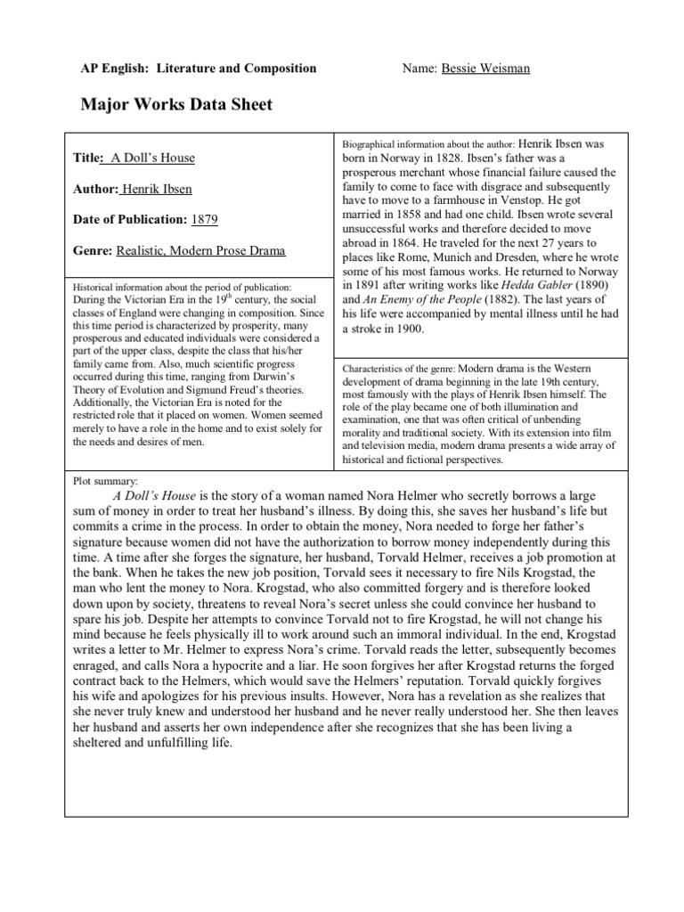 Major works datasheet 5 a dolls house buycottarizona