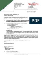 Surat Pendaftaran Tamat Latihan Industri
