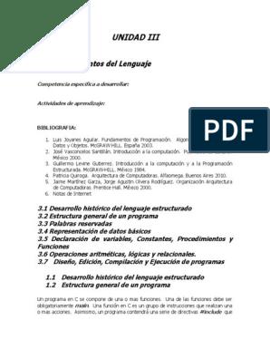 Programacion Unidad 3 Y 4 Programa De Computadora Compilador
