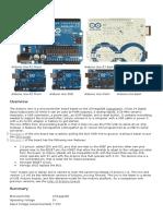 Arduino Uno Technical DataSheet