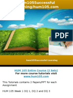 HUM105 professional tutor/hum105.com