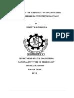 Evaluación de La Idoneidad Del Carbón de Cascara de Coco Como Agregado Grueso Principal en El Asfalto