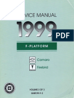1999 Chevrolet Camaro & Pontiac Firebird Service Manual Volume 3