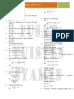 Math PT3 Revision 4 5 6