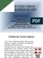 Ekopagi Tentang Food Taboo Dan Masalah Gizi