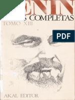 Obras Completas. Tomo 13 - Lenin