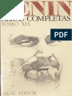 Lenin Obras Completas - Tomo XIX
