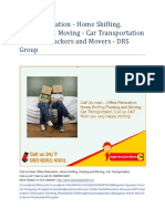 Office Relocation - Home Shifting, Packing and Moving - Car Transportation