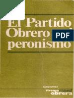 El Partido Obrero y El Peronismo