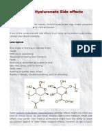 Sodium Hyaluronate Side Effects