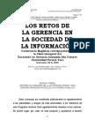 Los Retos de La Gerencia en La Sociedad de La Información