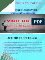 ACC 281 GENIUS EDUCATION EXPERT / acc281geniusdotcom