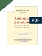 Litterature Et Revolution