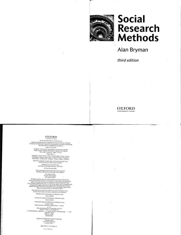 Alan Bryman-Social Research Methods, 3rd Edition