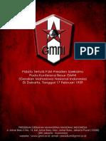 Amanat PJM Presiden Soekarno Pada Konferensi Besar GMNI Di Kaliurang Tanggal 17 Februari 1959