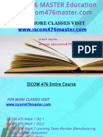 ISCOM 476 MASTER Education Expert-Iscom476master.com