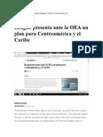 Reagan Presenta Ante La OEA Un Plan Para Centroamérica y El Caribe