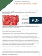 Lakoff - EE UU, El Secreto Del Éxito de Donald Trump