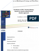 Prediction of DLC friction lifetime based on a local Archard factor density approach
