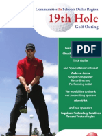 19th Hole Golf Outing Program