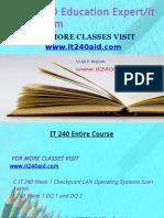 IT 240 AID Education Expert-it240aid.com