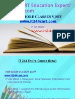 IT 244 CART Education Expert-it244cart.com