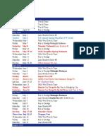 2010 Tentative Schedule