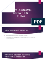 Slow Economic Growth in China