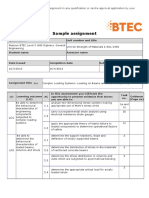 Pearson BTEC Level 5 HND Diploma in Engineering Sample Assignment