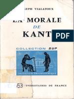 VIALATAUX, La Morale de Kant
