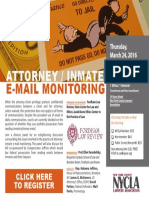 Attorney Inmate Monitoring Discussion 3-24-16
