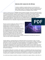 El funcionamiento interno del comercio de divisas