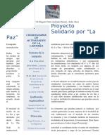 Proyecto Solidario Por La Paz Entre Ríos