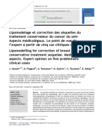 Lipomodelage et correction des séquelles du traitement conservateur du cancer du sein- Aspects médicolégaux